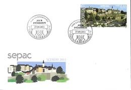 FDC -  JOUR D'ÉMISSION  -  SEPAC  SCENERY 2011  -  27.09..2011 - FDC
