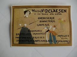 Postcard Postal Belgium Brussels St-Gilles St-Gilles Exposition Au Musée Horta Armand Rassenfosse - St-Gilles - St-Gillis