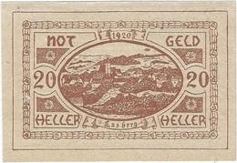 Austria (NOTGELD) 20 Heller Lasberg 12-5-1920 Kon 505 B.2 Marrón UNC Ref 3601-1 - Austria