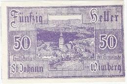 Austria (NOTGELD) 50 Heller Sankt Johann (Wimberg) 5-5-1920 Kon 894 A.b.10 UNC - Austria