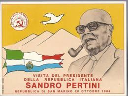 San Marino - Visita Del Presidente Della Rep. Italiana Sandro Pertini - First Day - H1709 - San Marino