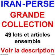 Only € 289 !!!  IRAN - PERSE, GRANDE COLLECTION (50 Lots Et Articles Ensemble) !!! - Collezioni (senza Album)