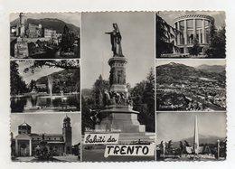 Trento - Saluti Da - Cartolina Multipanoramica - Bel Timbro A Targhetta - Viaggiata Nel 1969 - (FDC16422) - Trento