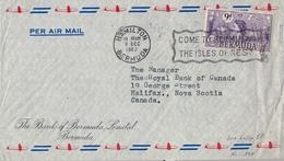 1962 , BERMUDA , SOBRE CIRCULADO , HAMILTON - HALIFAX , THE BANK OF BERMUDA LIMITED - Bermudas