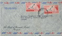 1960 , BERMUDA , SOBRE CIRCULADO , HAMILTON - NEW TORONTO , THE BANK OF BERMUDA LIMITED, CORREO AÉREO - Bermudas