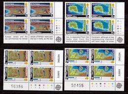 1982 Jersey EUROPA CEPT EUROPE 4 Serie Di 4v. Quartina MNH** Bl.4 - 1982