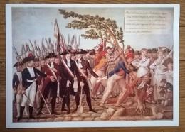 Menu AIR FRANCE /  PARIS -MEXICO    / Bicentenaire De La Révolution Française / La Plantation De L'arbre De La Liberté - Menú