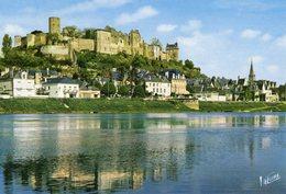 37 Chinon / Le Chateau Se Refletant Dans La Vienne / Le Chateau De Coudray / Son Donjon / La Tour De L Horloge - Chinon