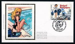 BELGIQUE 2528 FDC Premier Jour NATACHA NATASJA Cachet BRUXELLES François WALTHERY Oct 1993 - Comics