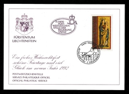 LIECHTENSTEIN 1991 Christmas: Promotional Card CANCELLED - Liechtenstein