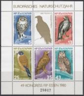 BULGARIEN  Block 105, Postfrisch **, Europäisches Naturschutzjahr; FIP-Kongress, Essen 1980 - Blocks & Kleinbögen