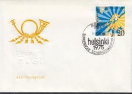 DDR 2096, FDC, Europa Mitläuferausgabe:  KSZE 1975 - 1975