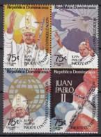 DOMINIKANISCHE REPUBLIK 1439-1442, 4erBlock, Postfrisch **, Besuch Von Papst Johannes Paul II, 1984 - Dominicaine (République)