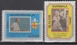GUATEMALA 1238-1239, Postfrisch **, 1. Jahrestag Des Besuchs Von Papst Johannes Paul II, 1984 - Guatemala