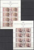 LIECHTENSTEIN 988-989, Kleinbogensatz, Gestempelt, Tod Von Fürst Franz Josef II. Und Fürstin Gina 1990 - Blocs & Feuillets