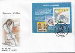 MOLDAWIEN Block 12, FDC, Europa CEPT: Sagen Und Legenden 1997 - Europa-CEPT