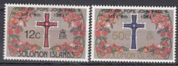 SALOMONINSELN 526-527, Postfrisch **, Besuch Von Papst Johannes Paul II, 1984 - Salomoninseln (Salomonen 1978-...)