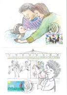 UNO GENF, 202-203, 2 Maximumkarten, Rechte Des Kindes 1991 - Cartes-maximum