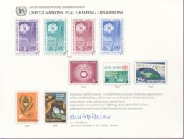 UNO NEW YORK, Erinnerungskarte EK 8, Friedenserhaltende Maßnahmen 1975 - New York -  VN Hauptquartier