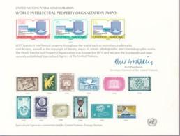 UNO NEW YORK, Erinnerungskarte EK 11, WIPO 1977 - New York -  VN Hauptquartier