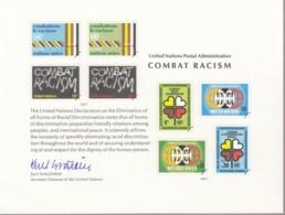 UNO NEW YORK, Erinnerungskarte EK 12, Dekade Gegen Rassismus 1977 - New York -  VN Hauptquartier