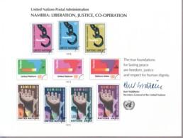 UNO NEW YORK, Erinnerungskarte EK 13, Namibia: Befreiung... 1978 - New York -  VN Hauptquartier