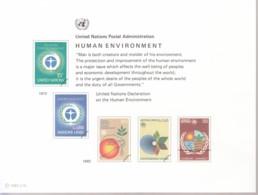 UNO WIEN, Erinnerungskarte EK 21, Umweltschutz 1982 - Briefe U. Dokumente