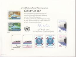 UNO WIEN, Erinnerungskarte EK 23, Sicherheit Auf See 1983 - Briefe U. Dokumente
