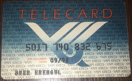 Yapi Kredi Bankasi Telecard Expired 1992 Turkey - Cartes De Crédit (expiration Min. 10 Ans)