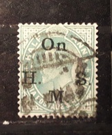 India Postage 1902-11 Half Anna Overprinted On H.M.S. Service Great Britain - India (...-1947)