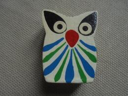 Mini Chouette Hibou En Bois Peint - Animaux