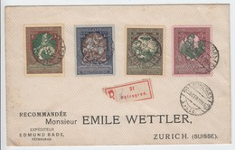 Russland 1915 . Satzbrief  In Die Schweiz - 1857-1916 Empire