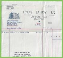 Stafford - Louis Sandy, Lda. Invoice - Cover - England - Reino Unido