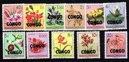 S099.-. CONGO. 1960 . SC#: 326 // 338 - MNH - FLOWERS - République Du Congo (1960-64)