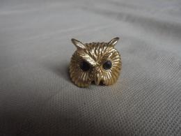 Mini Chouette Hibou En Métal Doré - Tiere