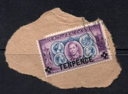 10d Value NEW Zealand Postally Used Stamp On Paper FROM 1944 - 1907-1947 Dominion