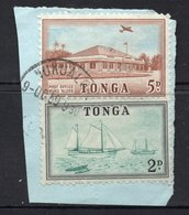 2d And 5d Values TONGA Postally Used Stamps On Paper FROM 9 August 1959 - Tonga (...-1970)