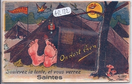SAINTES- CARTE A SYSTEME- SOULEVEZ LA TENTE ...COMPLET- GABY-ARTAUD 102 - Saintes