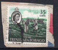 35c Value TRINIDAD AND TOBAGO Postally Used Stamp On Paper , Postmarked Circa 1960 - Trinidad Y Tobago (1962-...)