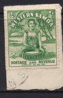½d Value WESTERN SAMOA Postally Used Stamp On Paper , Postmarked Circa 1935 - Samoa