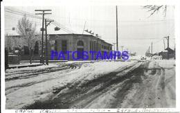 117168 ARGENTINA NEUQUEN ZAPALA BANK BANCO NACION NEVADA PHOTO NO POSTAL POSTCARD - Fotografie