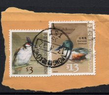 $13, $3 Values HONG KONG Postally Used Stamps On Paper, Postmarked 13-4-12 - 1997-... Région Administrative Chinoise