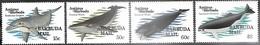 Barbuda  1983  Sc#582-5    Marine Mammals Set   MNH  2016 Scott Value $40.25 - Antigua Et Barbuda (1981-...)