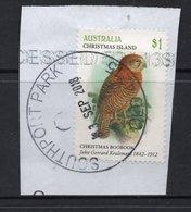 $1 Value CHRISTMAS ISLAND Postally Used Bird Stamp On Paper, Postmarked 13 SEP 2018 - Christmas Island