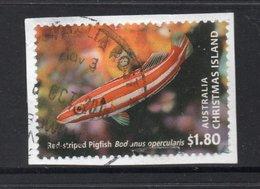2013 $1.80 Value CHRISTMAS ISLAND Postally Used FISH Stamp On Paper, Postmarked 6 OCT 2015 - Christmas Island