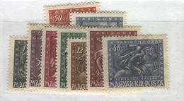 HUNGARY 1943 War Invalids, Scott Catalogue No(s). B157-B165 MH - Hungary