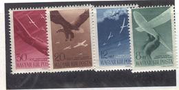 HUNGARY 1943 Horthy Natl. Aviation Fund, Scott Catalogue No(s). B166-B169 MH A - Hungary
