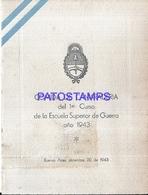 117180 ARGENTINA BUENOS AIRES JOUSTEN HOTEL COLEGIO MILITAR DE LA NACION PROMOCION 1931 AÑO 1943 MENU NO POSTAL POSTCARD - Altri