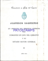 117182 ARGENTINA BUENOS AIRES LOS LAURELES DE PONTEVEDRA AÑO 1954 MENU NO POSTAL POSTCARD - Other