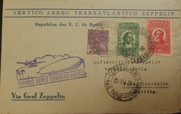 O) 1932 BRAZIL, TRANSATLANTICO ZEPPELIN -LUFTSCHIFFBAU ZEPPELIN MERCURY SC 256 700r, BARTHOLOMEU DE GUSMAO SC C22 2000r, - Brazil